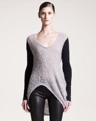 Helmut Lang Plaited Boucle Sweater