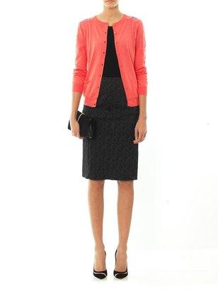 Nina Ricci Lace panel silk-cotton cardigan