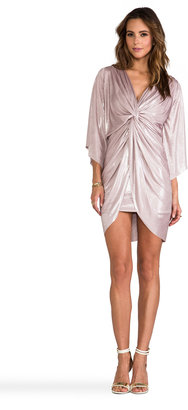 T-Bags LosAngeles Long Sleeve Mini Knot Dress