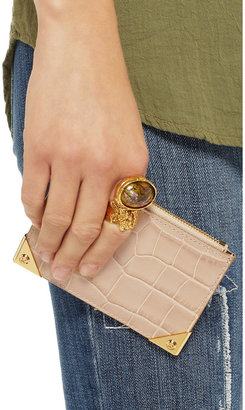 Alexander Wang Prisma croc-effect leather coin purse