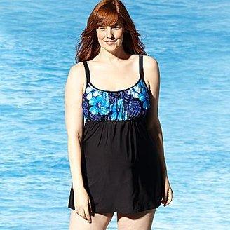 Delta Burke Floral Swimdress - Plus