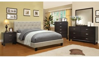 Furniture of America Perdella 4-piece Ivory Low Profile Bedroom Set