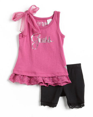 GUESS Girls 2-6x Two-Piece Tank Top and Shorts Set