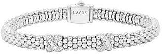 Women's Lagos 'Signature Caviar' Diamond Rope Bracelet (Online Only) $650 thestylecure.com