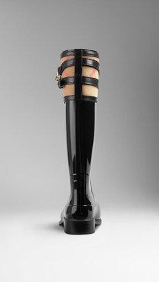 Burberry House Check Buckle Detail Rain Boots