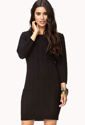 Forever 21 Essential Cable Sweater Dress