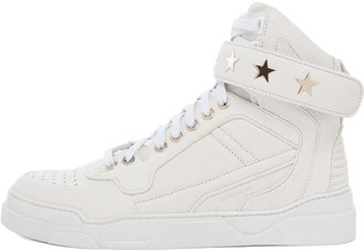 Givenchy Leather Sneakers in Optic White