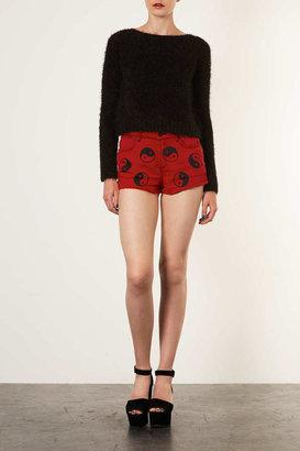 Topshop MOTO Ying Yang Print Hotpants