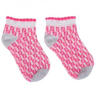 Zucca Fendi Neon Pink Socks