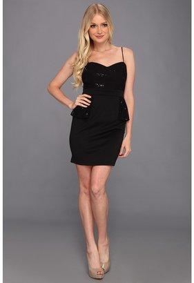 Type Z Lighla Lace Peplum Dress (Black) - Apparel