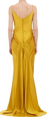 Zac Posen Layered Bustier Fishtail Gown