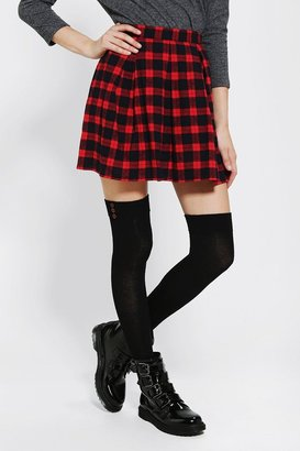 Urban Outfitters Coincidence & Chance Pleated Plaid Skirt