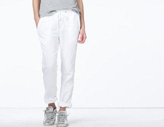 James Perse Textured Cotton Surplus Pant