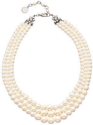 Ben-Amun Ben Amun Triple Stand Pearl Necklace