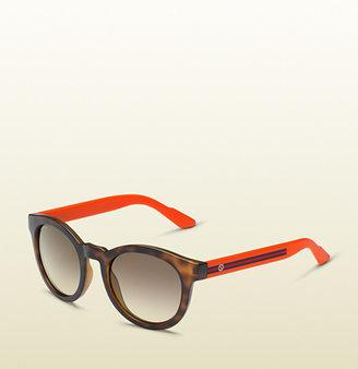 Gucci Round Vintage Inspired Bio-Based Sunglasses