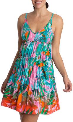Tropical Tiered Mini Dress