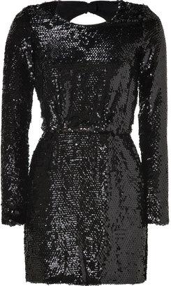 Rachel Zoe Black Sequined Selita Dress