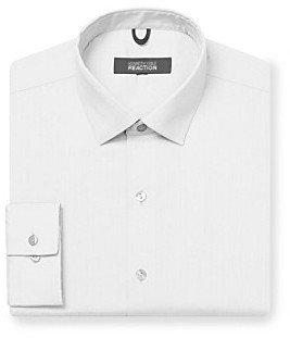 Kenneth Cole Reaction Men's White Long Sleeve Regular Fit Dress Shirt