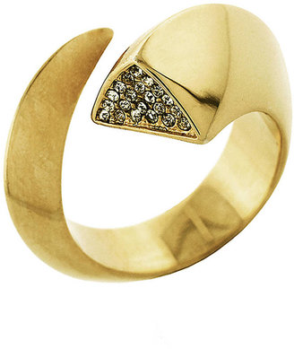 Vince Camuto By The Horns Gold-Tone & Crystal Ring