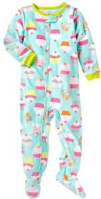 Carter's cupcake fleece footed pajamas - toddler