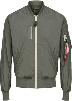 Alpha Industries Ma-1 Sl Vintage Green Bomber Jacket