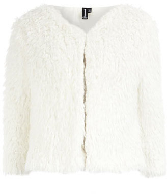 Dorothy Perkins White sheepskin shrug