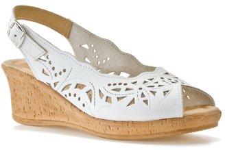 Spring Step Emmaline Wedge Sandal - White