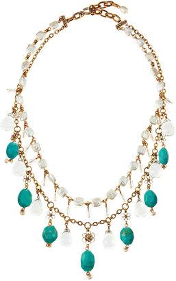 Stephen Dweck Two-Strand Bib Necklace