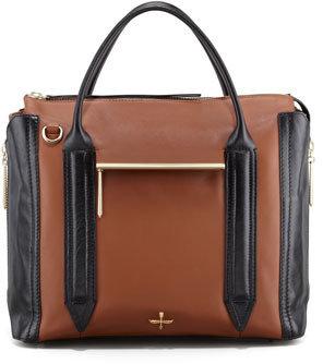 Pour La Victoire Provence Leather Tote Bag, Black/Coffee