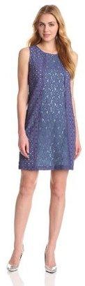 Nine West Dresses Women's Sleeveless Texture Shift Dress