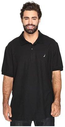 Nautica Big Tall Anchor Solid Deck Shirt (True Black) Men's Short Sleeve Pullover