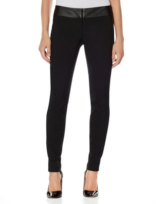 The Limited Faux Leather Tuxedo Stripe Skinny Pants