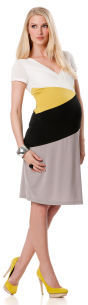 A Pea in the Pod BCBG Short Sleeve Belted Maternity Dress