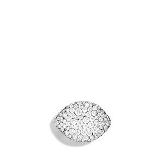 David Yurman Pavé; Pinky Ring with Diamonds in White Gold