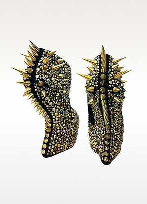 Giuseppe Zanotti Gaga - Spikes and Suede Wedge Bootie