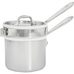 All-Clad Stainless Steel 2 Qt. Sauce Pan With Porcelain Double Boiler