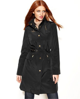 MICHAEL Michael Kors Buckle-Collar Belted Trench Coat