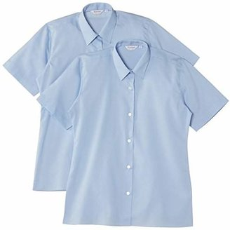"""Trutex Girl's Short Sleeve Easy Care Blouse (pack of 2),(Manufacturer Size: 40"""" Chest)"""