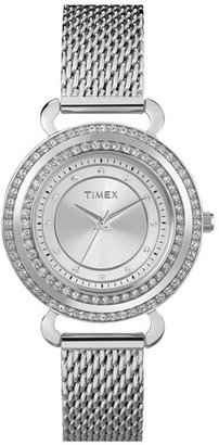 Timex 'Classic Crystals' Round Bracelet Watch, 33mm
