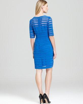 Adrianna Papell Dress - Sheer Stripe