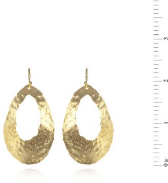 Wendy Mink Hammered Oval Cutout Earrings