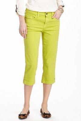 Pilcro Stet Mini Crop Jeans Citron 26 Denim
