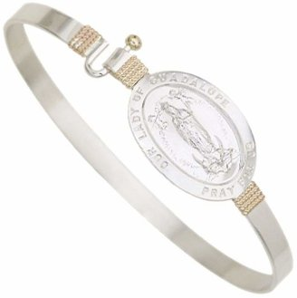 Our Lady of Guadalupe Bangle, Sterling/14K Gold