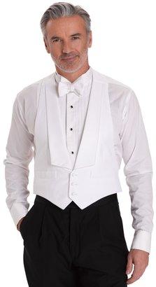 Brooks Brothers White Cotton Pique Tuxedo Vest