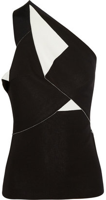 Roland Mouret Eveve stretch-crepe one-shoulder top