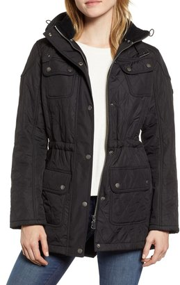 Barbour Arrow Quilted Hooded Anorak Coat