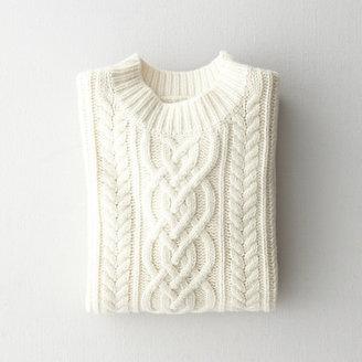 Steven Alan mock neck cable sweater