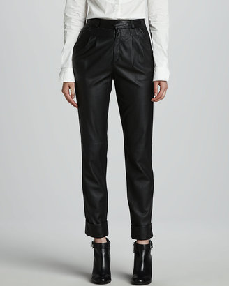 Rachel Zoe Phoenix Slouchy Cropped Leather Pants