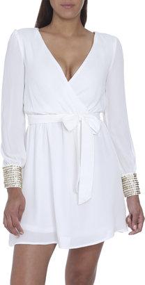 Arden B Surplice Tie Front Dress