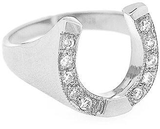 Campise Diamond Horse Shoe Ring